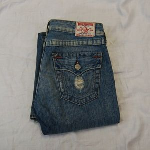 True Religion Joey Distressed Flare Jeans